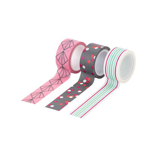 masking tape geometrique gris rose