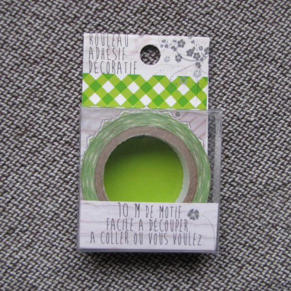 paper tape vichy vert ruban papier adhésif