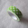 ruban adhésif en papier paper tape vert blanc motifs losanges