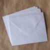 enveloppe blanche irisee washi tape
