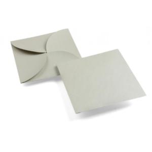 enveloppe carrée grise argentée irisée