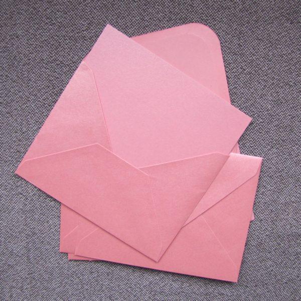 enveloppe rose irise carte washi tape
