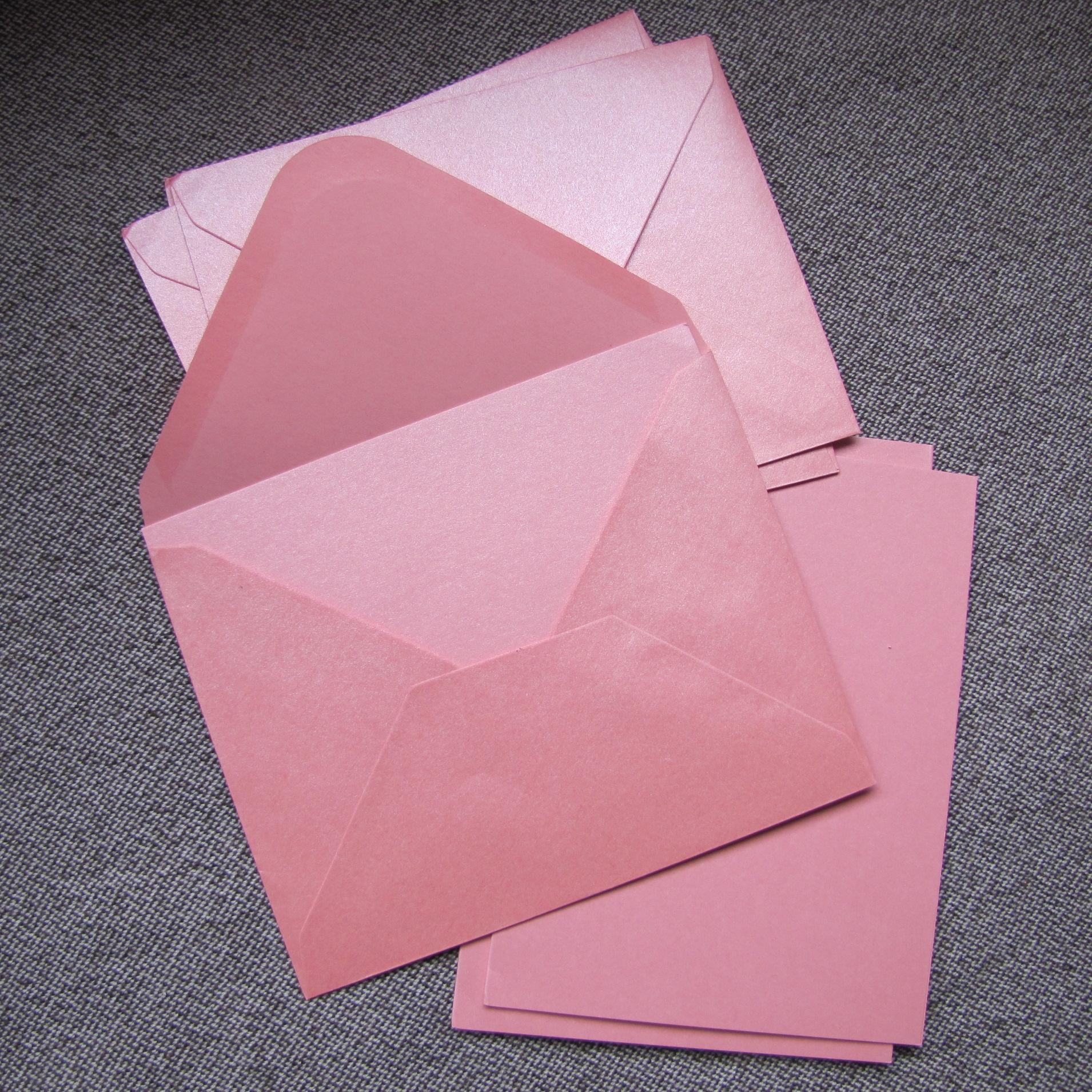 enveloppe rose carte