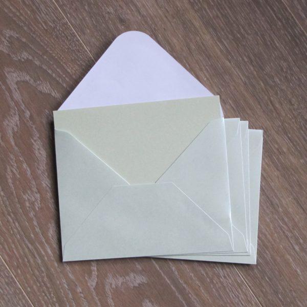 enveloppe verte irisee washi tape