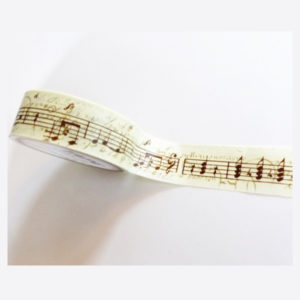 masking tape musique partition washi tape