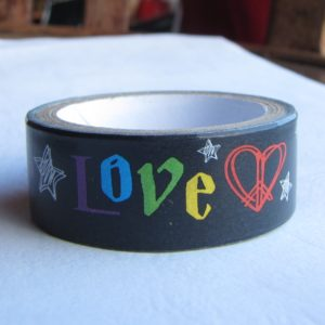 masking tape peace and love washi tape