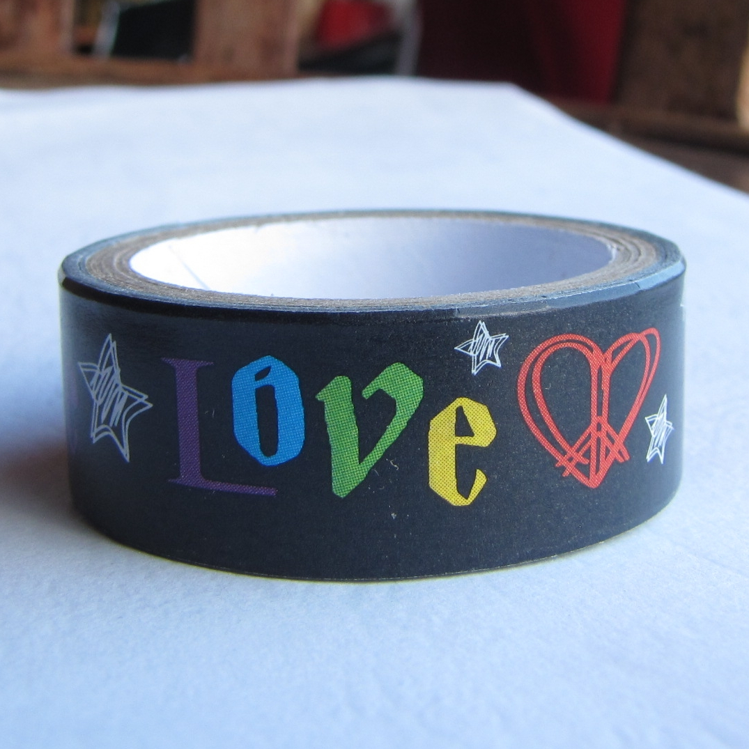 masking tape peace and love