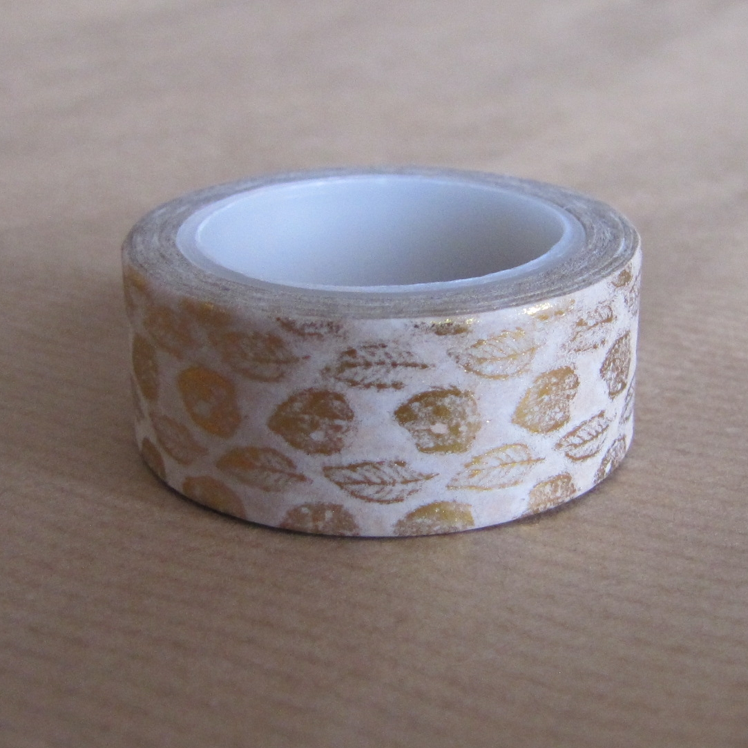masking tape feuille doree