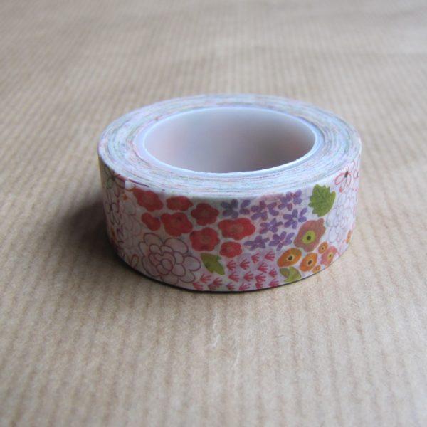 washi tape fleurs multicolores