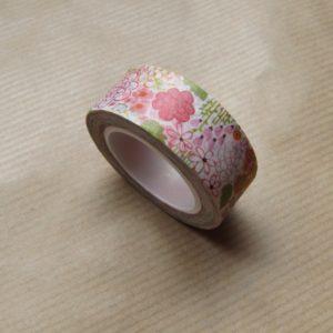 masking tape washi tape fleurs multicolores