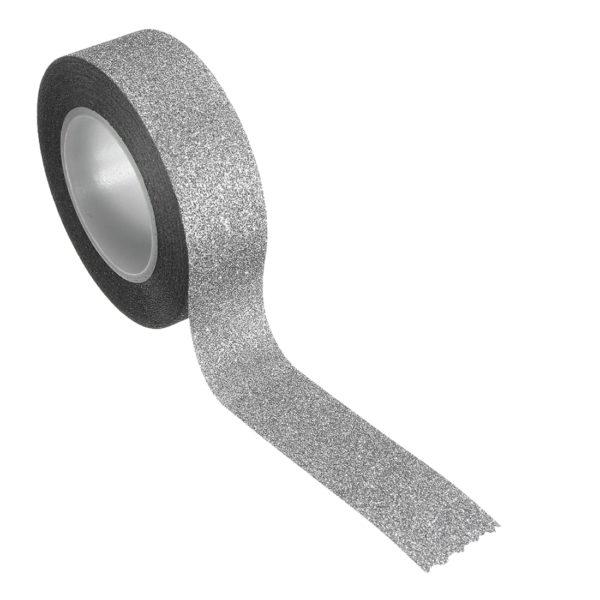 paper tape gris argenté pailleté ruban adhésif en papier