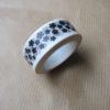 masking tape blanc fleur noire washi tape