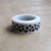 washi tape fleur noir blanc ruban adhésif