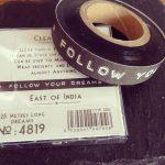 deco tape follow your dreams noir
