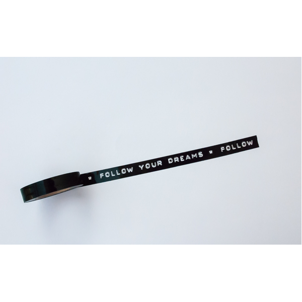 deco tape noir ruban adhesif washi tape