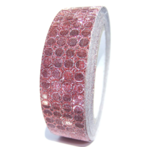 fabric tape rouge paillette ruban adhésif tissu
