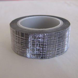fabric tape gris argent ruban tissu autocollant