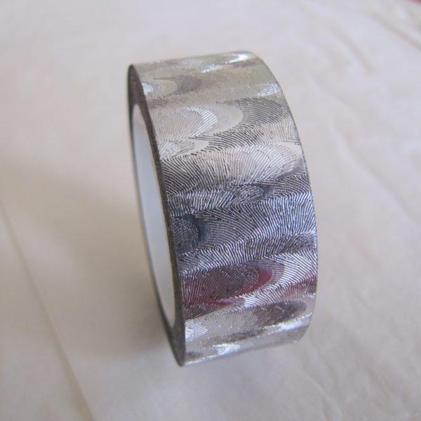 fabric tape gris argent ruban adhésif tissu