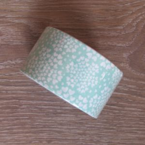 deco tape coeur vert blanc washi tape