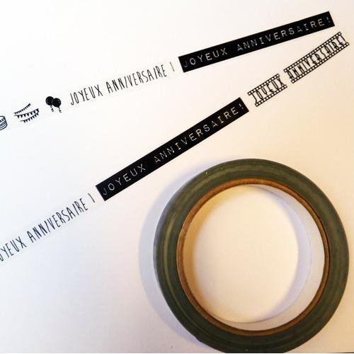 ruban adhésif décoratif deco tape anniversaire