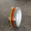 washi tape brillant argent doré orange