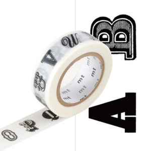 masking tape alphabet a b