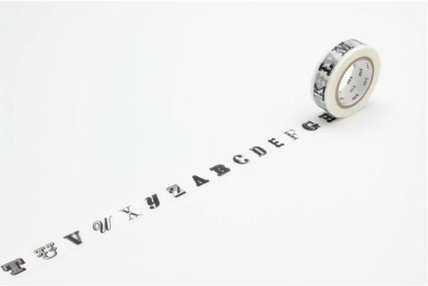 masking tape alphabet blanc noir