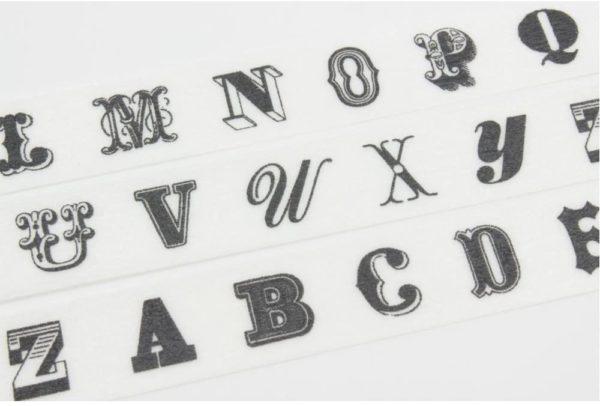 masking tape lettre alphabet