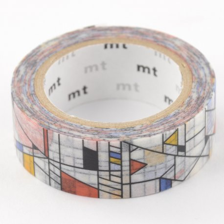 Masking tape Mondrian
