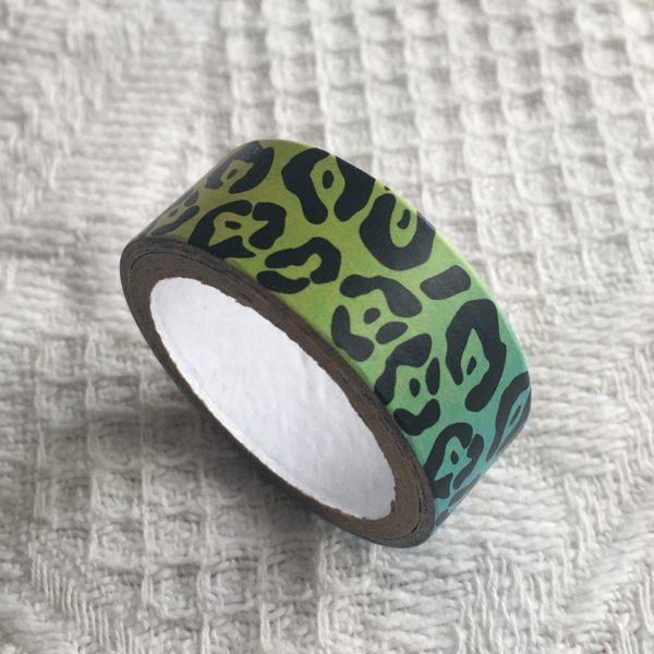 Masking tape multicolore motifs noirs