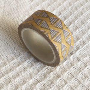 masking tape moutarde motifs géométriques