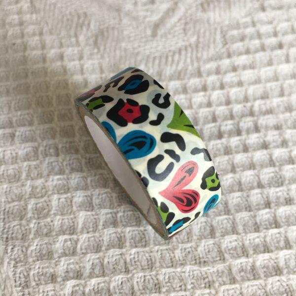 Paper tape cœurs colorés