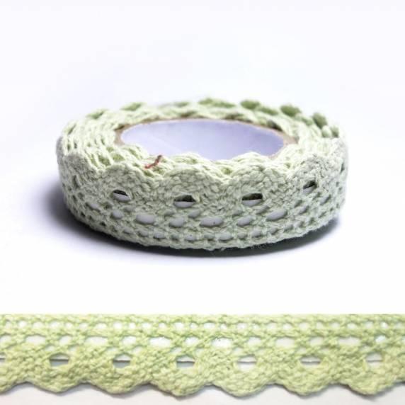 fabric tape vert dentelle